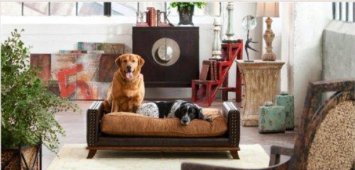 Luxury Large Classic Leather Dog / Pet Bed