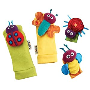 Lamaze Gardenbug Wrist Rattle and Footfinder Set