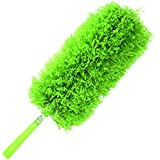 Microfiber Duster by CleansGreen | Best for Automotive, Home, Kitchen, Electronics, Office | Soft, Fluffy, Washable, Reusable Micro Fiber | Bendable, Extendable, Fits into Tight Spaces and High Places