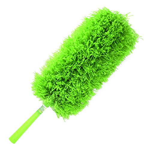 *Sale* Microfiber Duster | Slim, Fluffy And Bendable For Tight Spaces And Hard-To-Reach Corners - Washable - Best For Cobwebs, Ceiling Fans And High Places - Extendable With Your Extension Pole Or Long Handle - Soft, Fluffy, And Reusable Micro Fiber - No front-85607