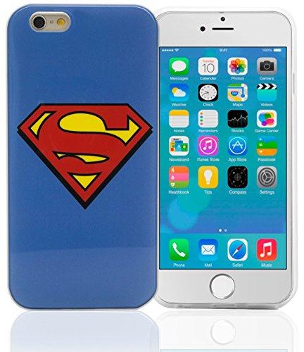 Phonix IP6WB2 DC Comics Custodia Originale con Superman Logo e Pellicola Proteggi Schermo per Apple iPhone 6, Multicolore