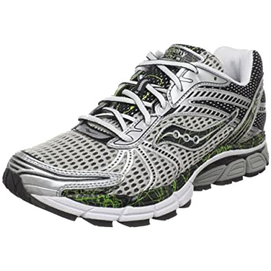 Saucony Men's ProGrid Triumph 8 Running Shoe,Silver/Black/Citron,9 M US