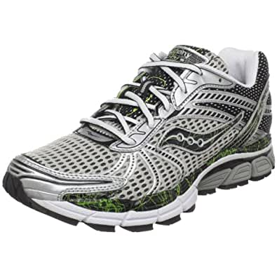 Saucony Men's ProGrid Triumph 8 Running Shoe,Silver/Black/Citron,10 M US