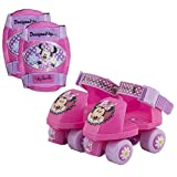 Disney Mickey Mouse and Friends Minnie Mouse Skates and Knee Pads Set - Girls