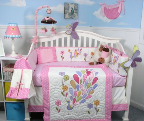 Peacock Baby Bedding 2978 front