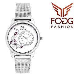 Fogg Analog White Dial Womens Watch 4031-WH