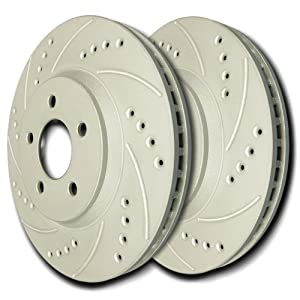 05-06 Chevrolet Cobalt (SS) Front Cross Drilled and Slotted Rotors