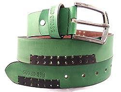 REDCROSS Men's Genuine Leather Belt(RCMB003_Green)
