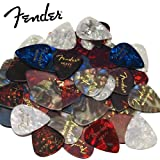 Fender Premium Celluloid Guitar Picks - 48pc Assorted Variety Pack, 351 Shape - Includes
