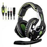 SADES SA810 New Updated Gaming Headset Xbox One Headset Over Ear Stereo Gaming Headphones with Noise Isolation Microphone for New Xbox One PC PS4 Laptop Phone (Color: SA810 Green)