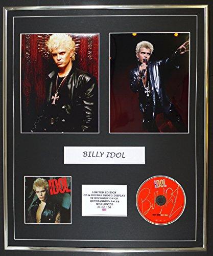 BILLY IDOL/cd e doppio display foto / edizione ltd / coa/BILLY IDOL