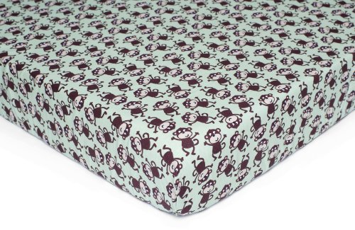 Carter's Easy Fit Printed Crib Fitted Sheet, Monkey