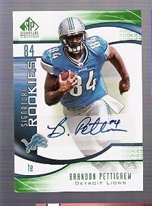 BRANDON PETTIGREW 2009 SP Signature Edition #244 AUTOGRAPH RC Rookie Card Detroit... by SP