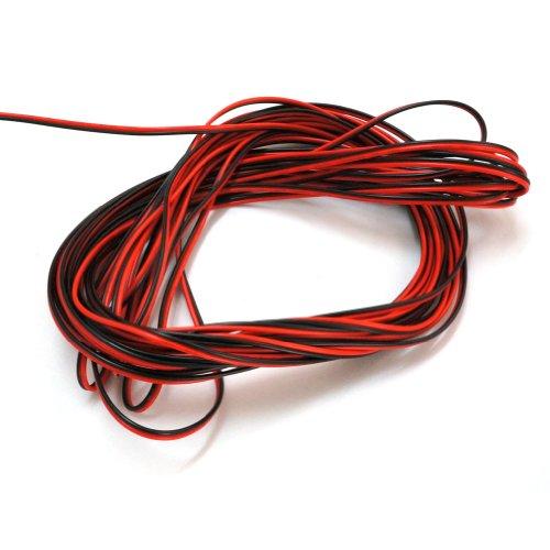 20 m LED Anschluss Verlängerung Kabel 2 polig für LED einfarbig Leiste Strip Streifen Lichtkette Band