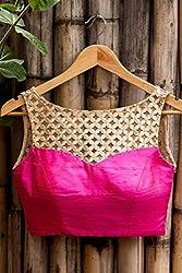 Latest Designer Pink Colour Blouse By Kmozi