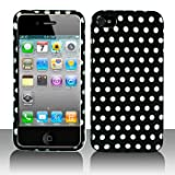 Premium – Apple iPhone 4 Polka Dots Cover – Faceplate – Case – Snap On – Perfect Fit Guaranteed