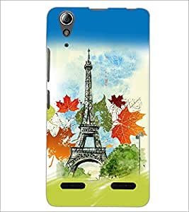 PrintDhaba Tower D-5957 Back Case Cover for LENOVO A6000 PLUS (Multi-Coloured)