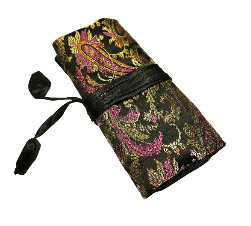 Jewelry Roll - Silk Jacquard 02