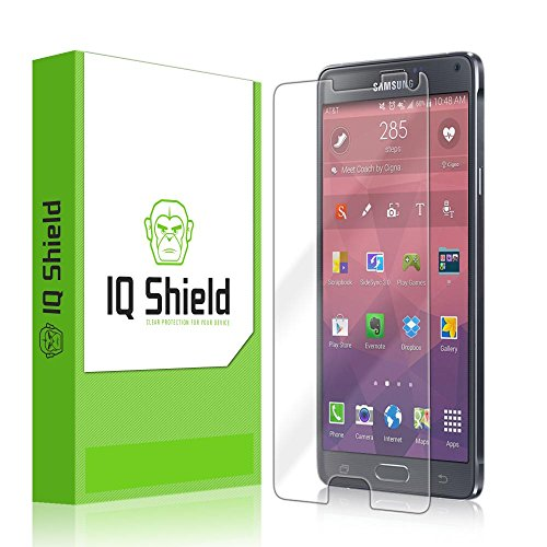 Iq Shield Liquidskin - Samsung Galaxy Note 4 Screen Protector With Lifetime Replacement Warranty - High Definition (Hd) Ultra Clear Smart Film - Premium Protective Screen Guard - Extremely Smooth / Self-Healing / Bubble-Free Shield - Kit Comes In Frustrat