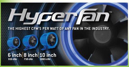 """Hyper Fan 8"""" - 710 CFM Inline Fan W/fan Speed Controller"""