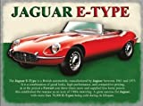 Red Jaguar E-Type, classic british motor car of the 60's and 70's. Car of the stars. For house, home, garage, pub, shed or man cave. Large Metal/Steel Wall Sign