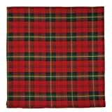 Durable Hand Woven 100% Cotton Red and Green Plaid Tablecloth 60x60 Inches