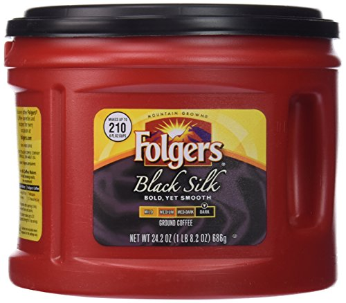 Folgers Black Silk Ground Coffee, 24.2 oz
