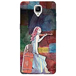 Graphic Girl - Mobile Back Case Cover ForFor One Plus 3