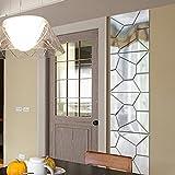 Autocollants Murals Amovibles Style Miroir Décoration pour Maison - Couleur d'Argent Taille M...