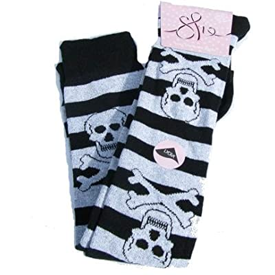 Funky Skull and Crossbone Goth Socks