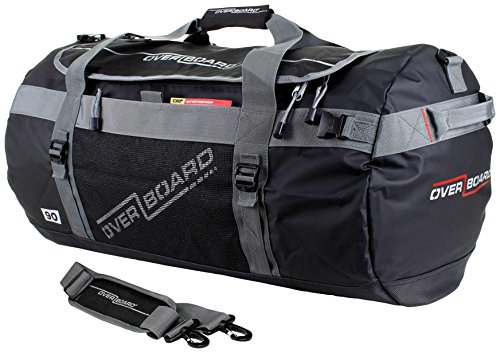 OverBoard 90 Litres Waterproof Adventure Duffle Bag - Black