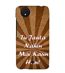 Tu Jaanta Nahin 3D Hard Polycarbonate Designer Back Case Cover for Micromax Canvas Android A1 AQ4501 :: Micromax Canvas Android A1