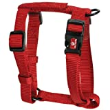 "Hamilton Adjustable Comfort Nylon Dog Harness, Red, 5/8"" x 12-20"""