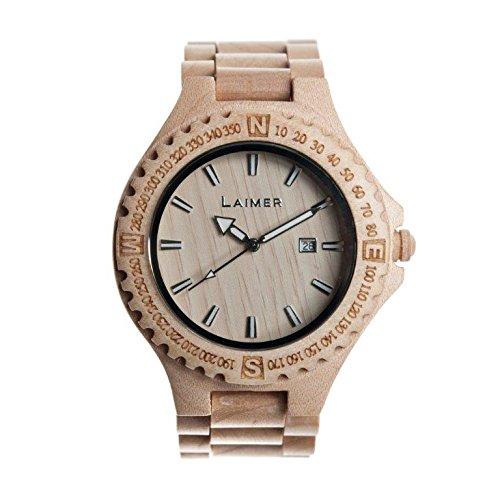 Laimer orologio da polso in legno for Orologio legno amazon