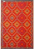 Fab Habitat 120 x 180 cm Polypropylene Lhasa Rug, Orange/Violet