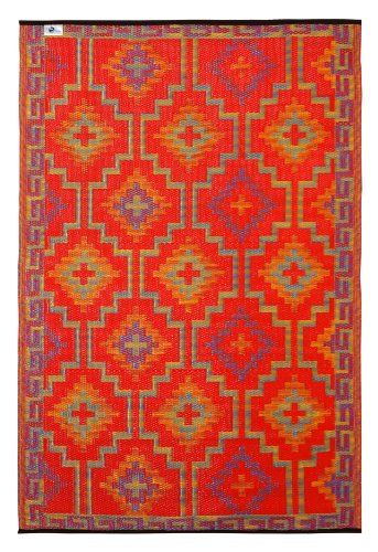 Lhasa - Orange & Violet (3' x 5') (Rug 3 Feet By 5 Feet compare prices)