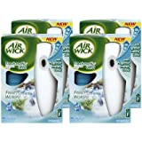 Air Wick Freshmatic Ultra Automatic Air Freshener System Starter Kit, Fresh Waters (Case of 4)
