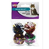 ✽ Ethical 1-1/2-Inch Mylar Balls Cat Toys, 4-Pack ✽