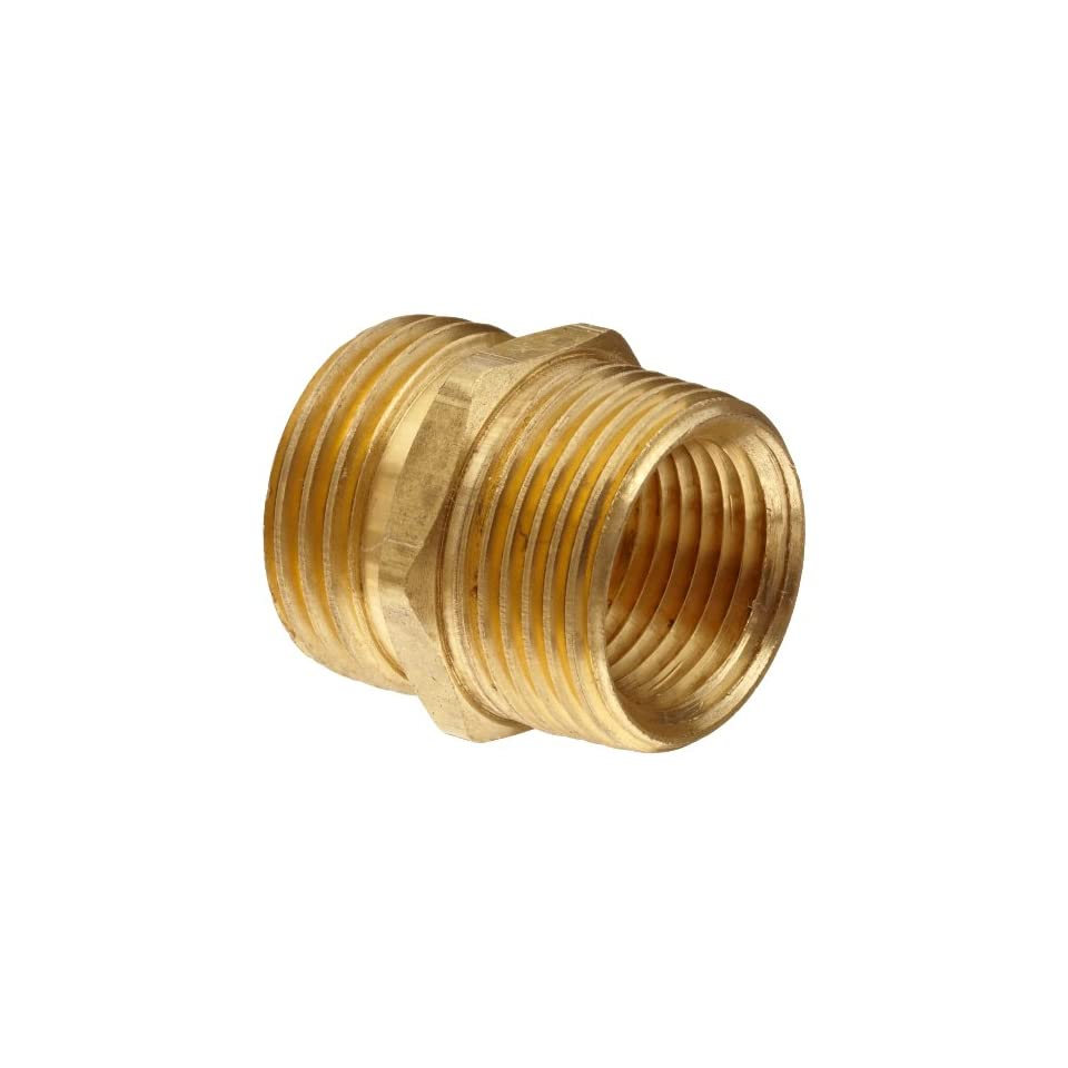 Anderson Metals Brass Garden Hose Fitting, Connector, 3/4 Male Hose