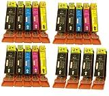 Canon CLI526 x3 SET, PGI525 X 4, WITH CHIP for Cannon Pixma MG6150 - ALSO REPLACES CANON PIXMA iP4850, MG5150, MG5250, MG6150, MG8150, MX885, IX6550 Printers - (Contains: 7x PGI-525BK, 3x CLI-526BK, 3x CLI-526C, 3x CLI-526Y, 3x CLI-526M) High Capacity In