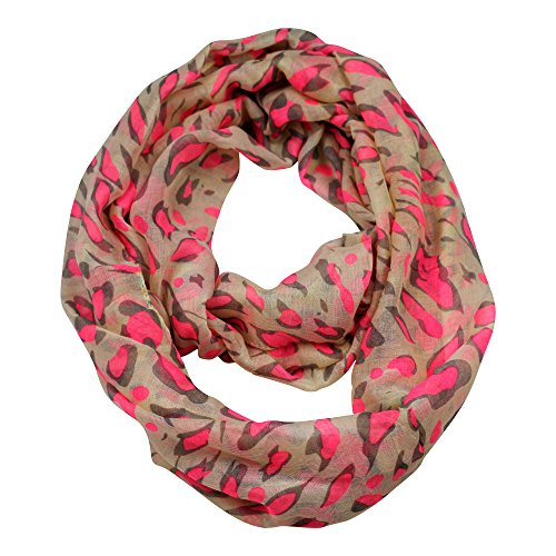 Mocela-Premium-Soft-Sheer-Multicolor-Infinity-Scarf-Leopard-PrintBeige-Pink