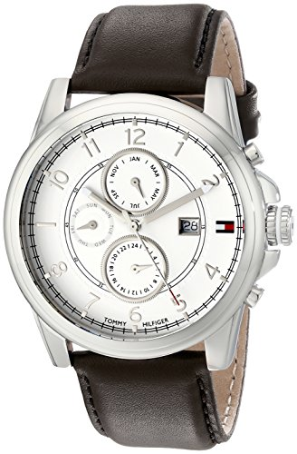 Tommy Hilfiger  Men's 1710294 Stainless Steel Watch with Brown Leather Band - 51MqBL7ukuL - Tommy Hilfiger  Men's 1710294 Stainless Steel Watch with Brown Leather Band