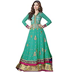Rozdeal Women Georgette Salwar Suit Dress Material (Rdhp101-603 _Green _Free Size)