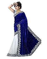 MEERAFASHIONWORLD woman's velvet brasoo sarees(mf08_velvet)