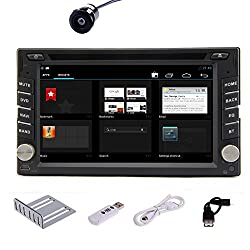 See Pupug 2 Din GPS Android 4.2 Car Video Player DVD CD Stereo Radio 3G Bluetooth TV WiFi 3G Camera Details