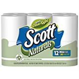 Scott Naturals Bath Tissues Mega Rolls White 12 Ct Rolls (Pack of 4)