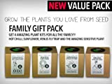 Grow Your Own Plants Family Pack - Includes Venus Fly Trap, Sunflower, Sensitive Plant & Scorpion Butch T Chilli