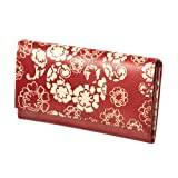 Floral Printed Leather Wallet