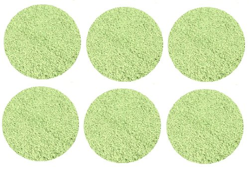 "Set 6 Children'S Crazy Carpet Circle Seats - Light Grass Green 18"" Round Rug Mats front-1028914"
