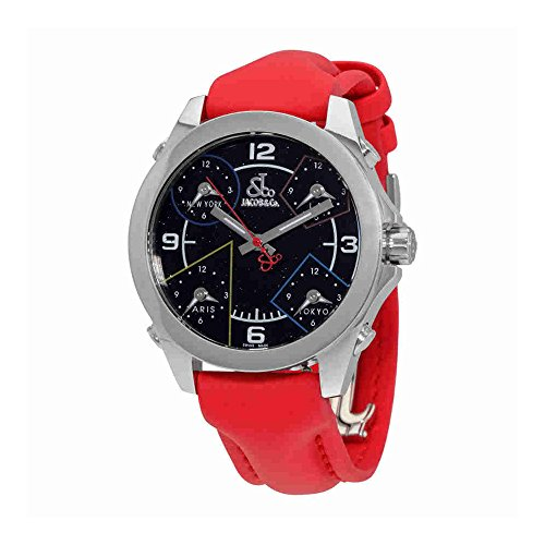 jacob-and-co-five-time-zone-black-dial-red-polyurethane-unisex-watch-jcm-80